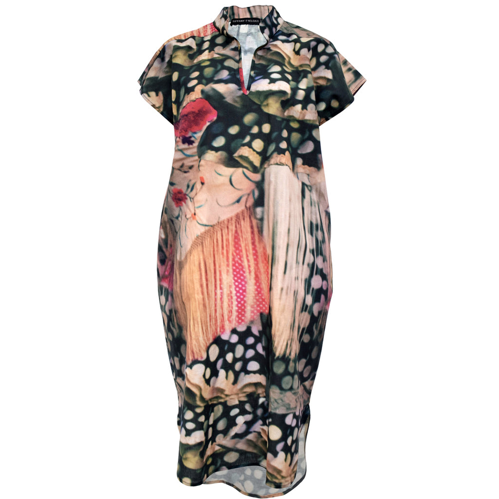 Tiffany Treloar Flamenco Pippa Printed Linen Dress Front