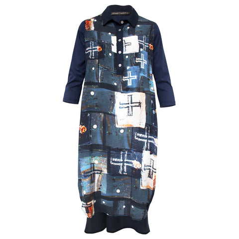 Tiffany Treloar Printed Silk Shirt Dress Crossfire Front