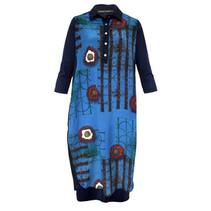 Tiffany Treloar Printed Silk Shirt Dress Zinnia Front