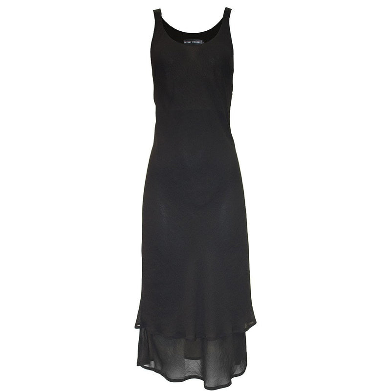 Tiffany Treloar Ms Slinky Double Layered Dress-Black
