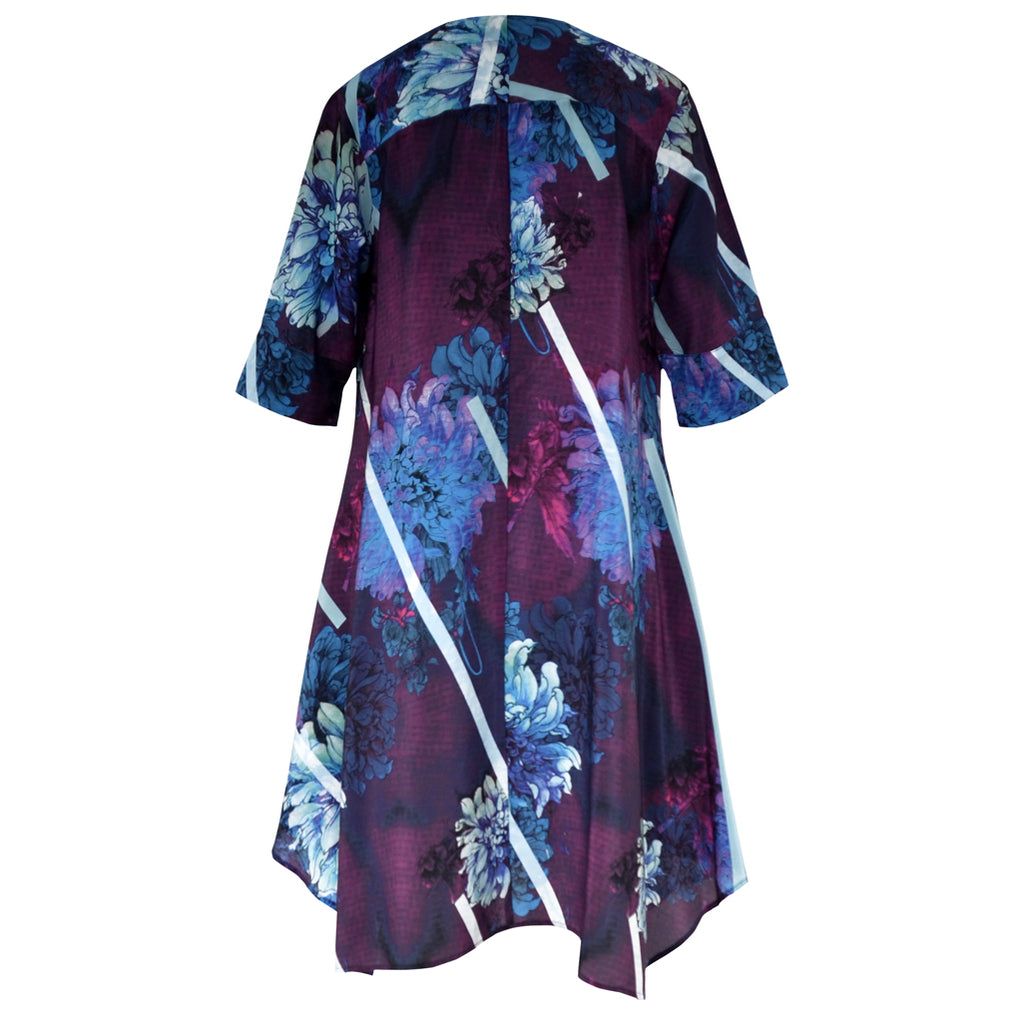Tiffany Treloar Printed Silk Tunic Dress Dahlia Back