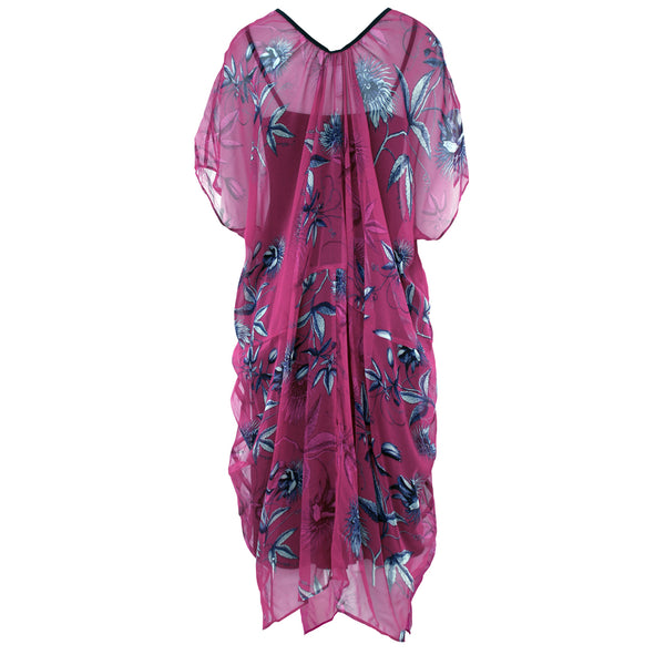 Tiffany Treloar Silk Georgette New Butterfly Dress Passionfruit Back