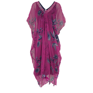 Tiffany Treloar Silk Georgette New Butterfly Dress Passionfruit Front