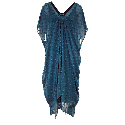 Tiffany Treloar New Butterfly Dress Teal Front