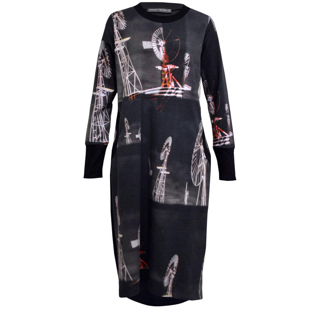 Tiffany Treloar Print Sweater Dress Windmill front