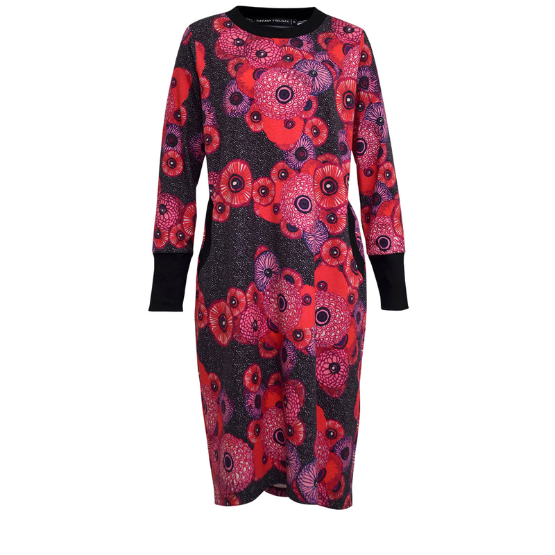 Tiffany Treloar Billie print sweater dress front