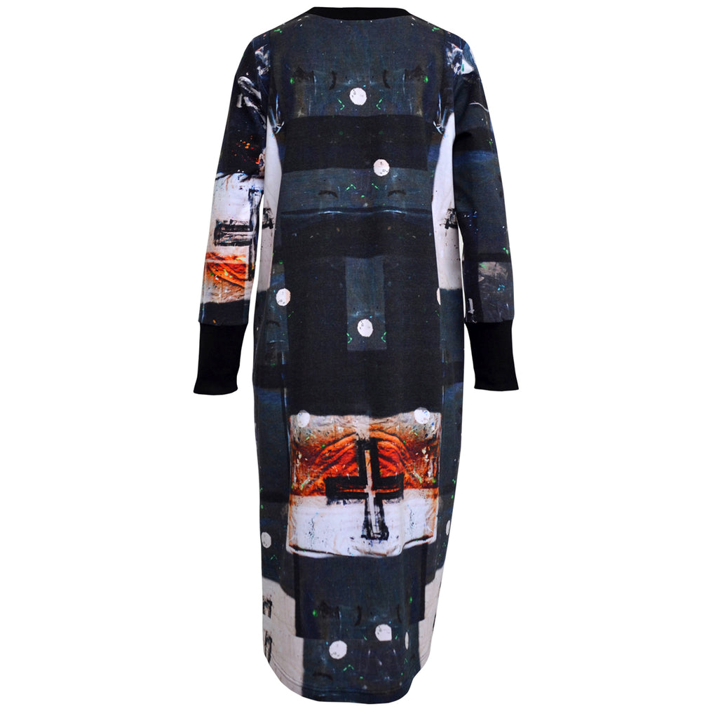 Tiffany Treloar Crossfire print sweater dress back