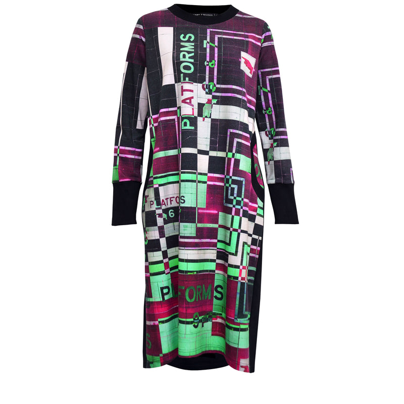 Tiffany Treloar Print Sweater Dress Platform Punk Front