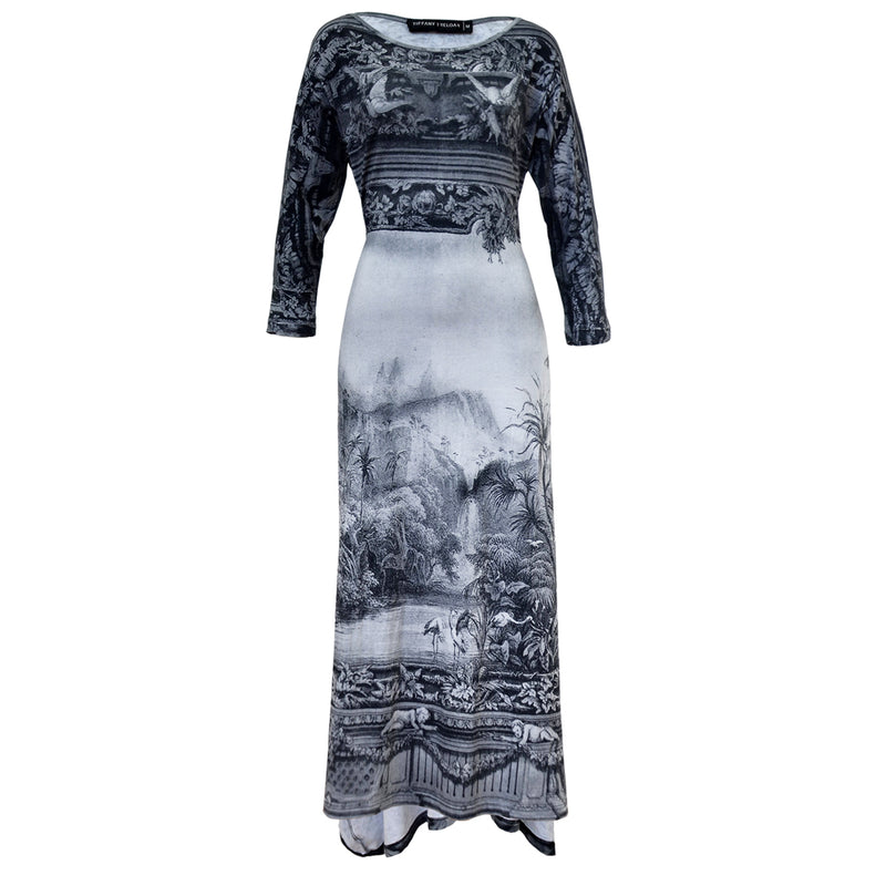 Tiffany Treloar Print Cotton Zero Dress Amazonica Front Tied