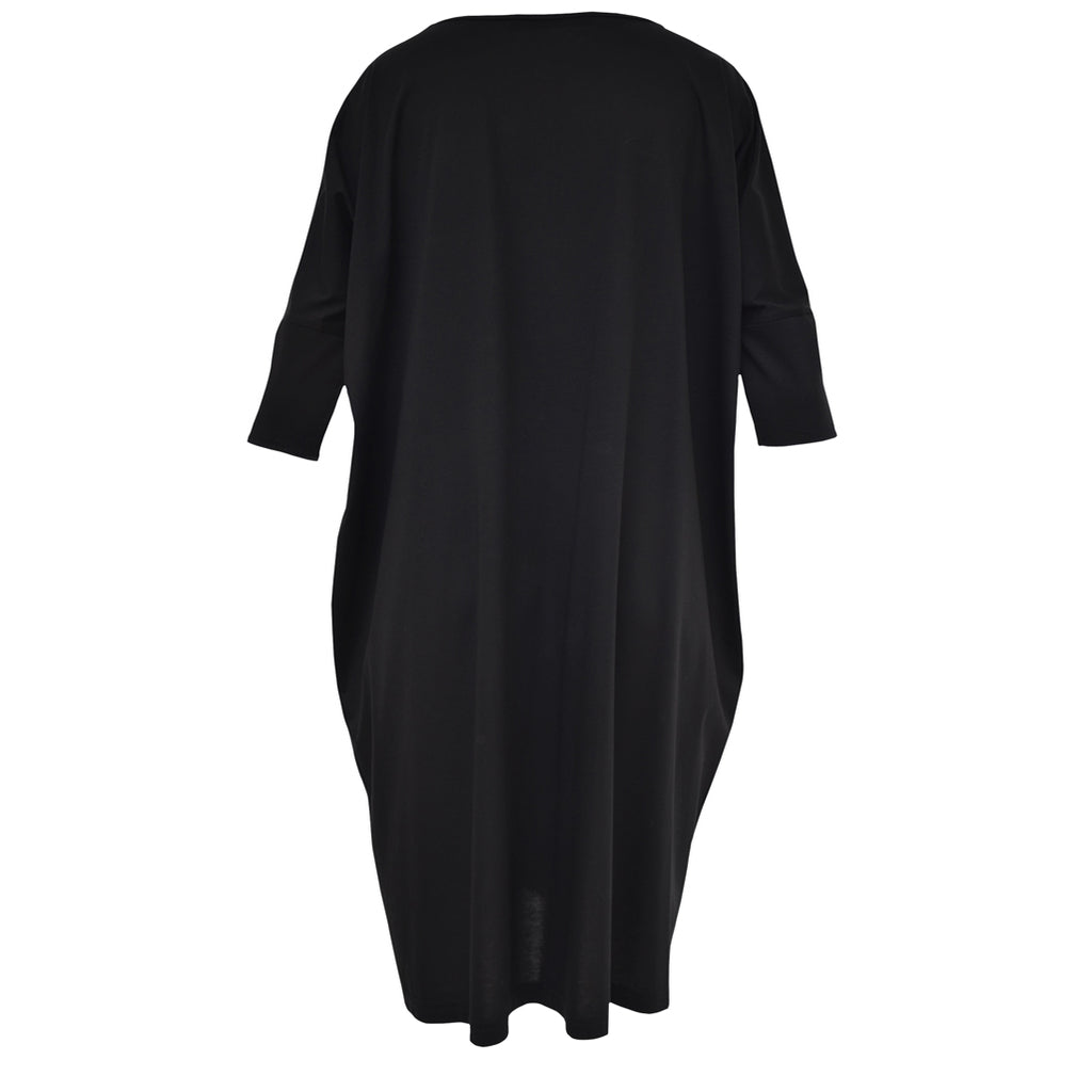 Tiffany Treloar Cotton Box T Dress Black Back