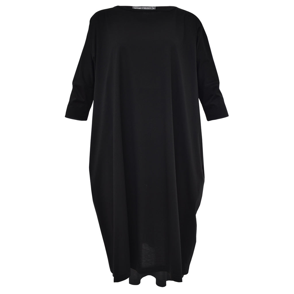 Tiffany Treloar Cotton Box T Dress Black Front