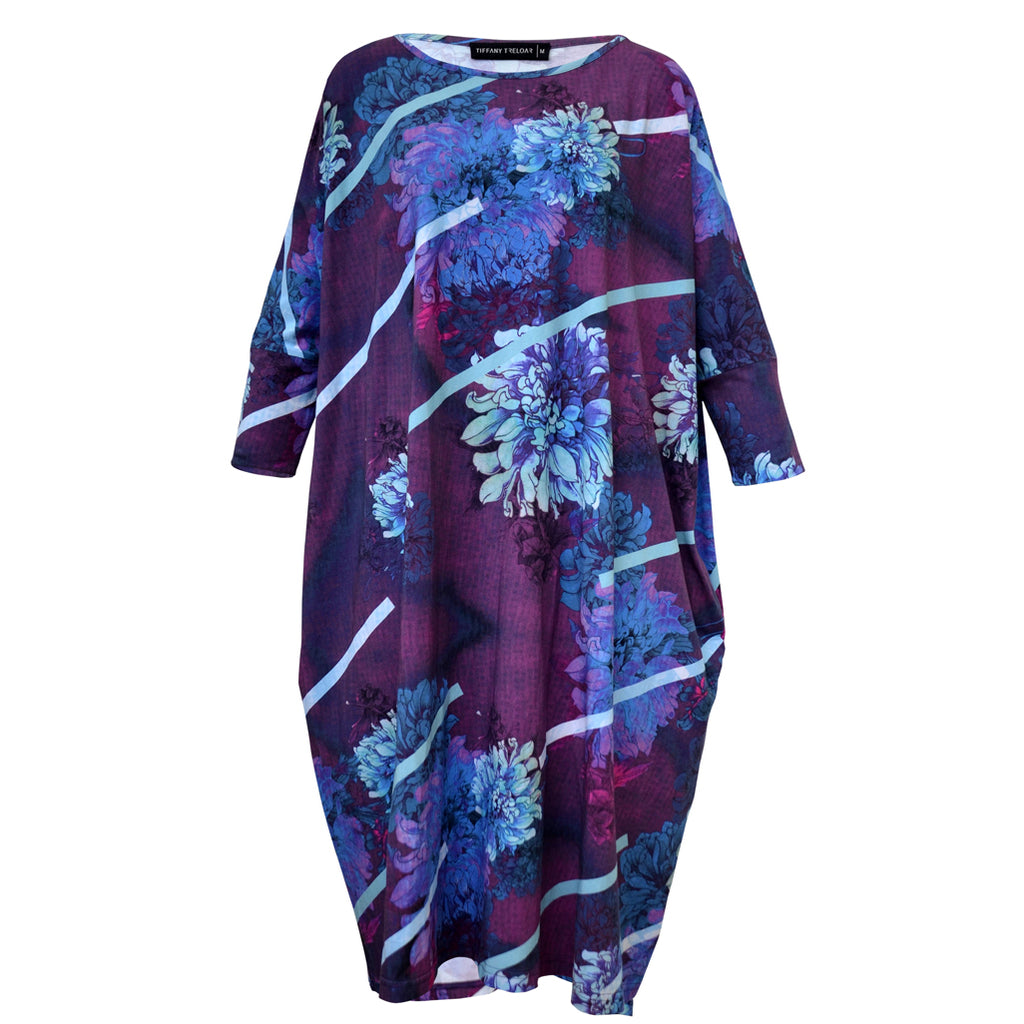 Tiffany Treloar Print Box T Dress Dahlia Front