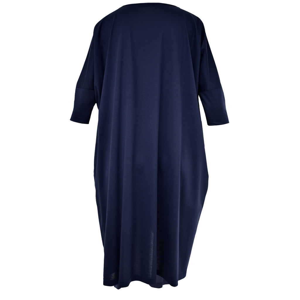 Tiffany Treloar Cotton Box T Dress Navy Back