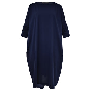 Tiffany Treloar Cotton Box T Dress Navy Front