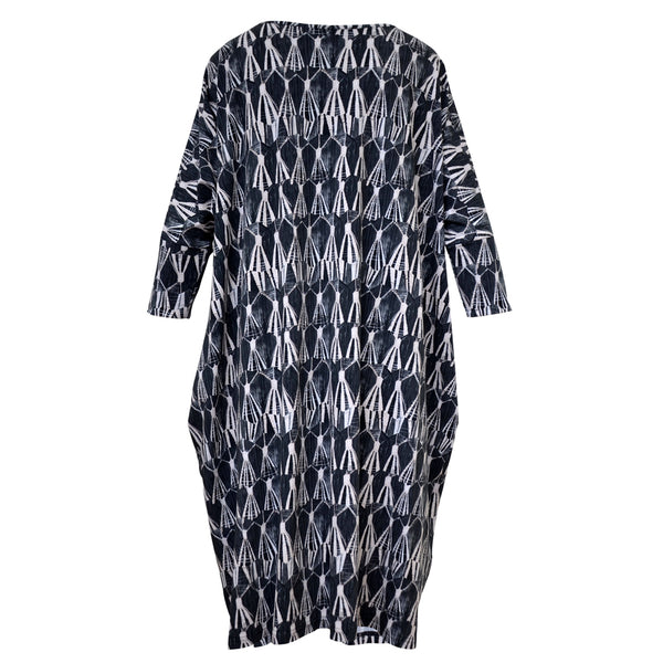 Tiffany Treloar Print Box T Dress Tassel Back