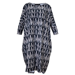 Tiffany Treloar Print Box T Dress Tassel Front