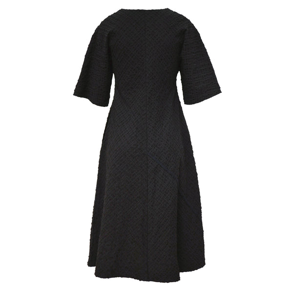 Tiffany Treloar Seersucker Dress Black Back