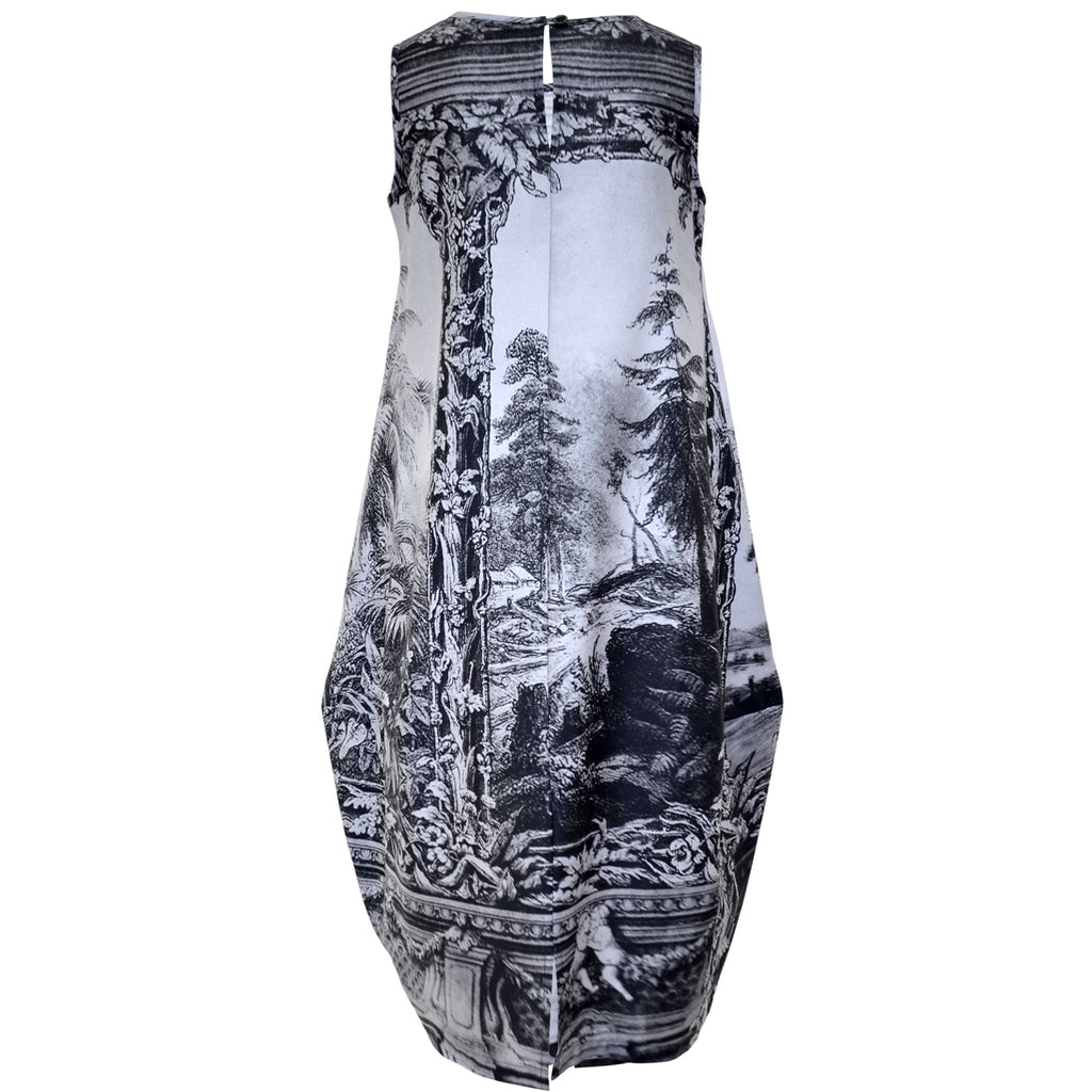 Tiffany Treloar Amazonica Cotton Print Bop Dress Back