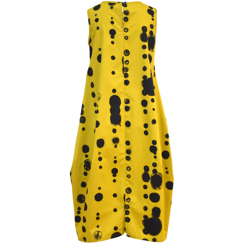Tiffany Treloar Cotton Bop Dress Yellow Oddkadot Back