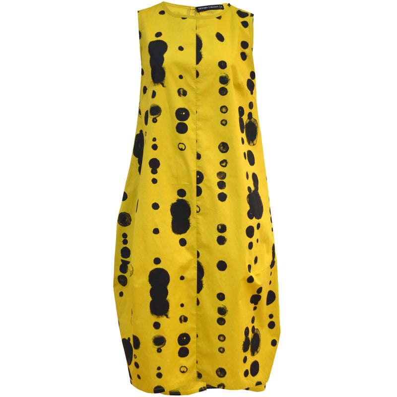 Tiffany Treloar Cotton Bop Dress Yellow Oddkadot Front