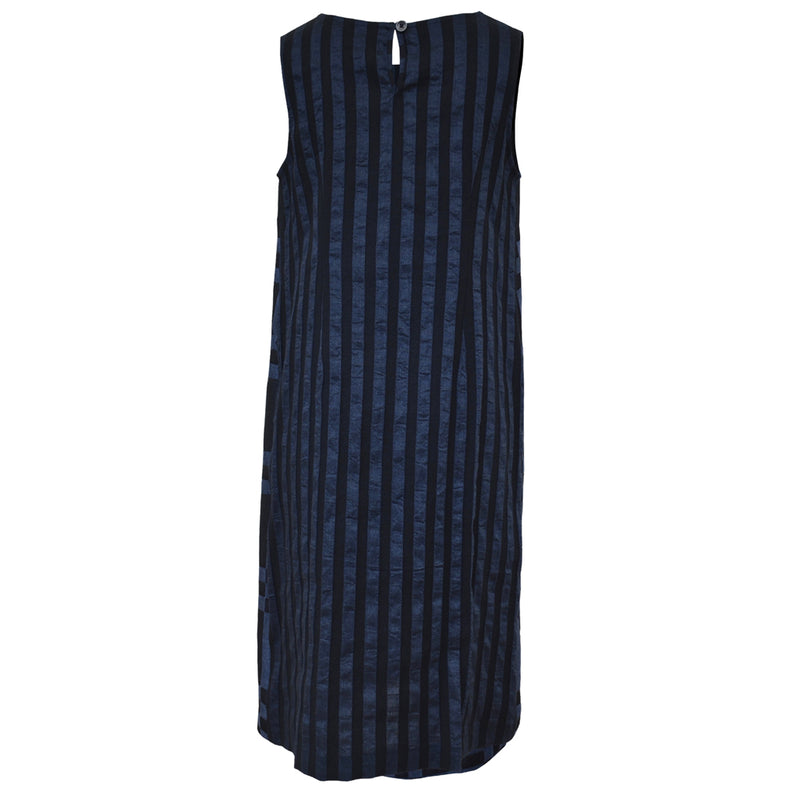 Tiffany Treloar, Italian Linen Viscose Dress Indigo - Tiffany Treloar