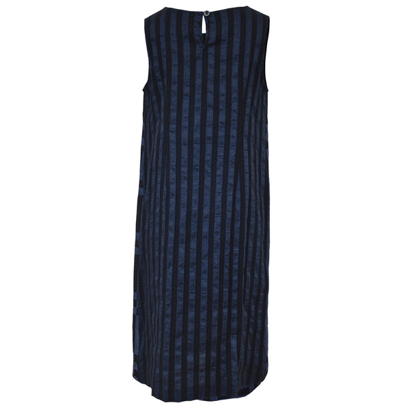 Tiffany Treloar Italian Linen Viscose Dress Indigo Back