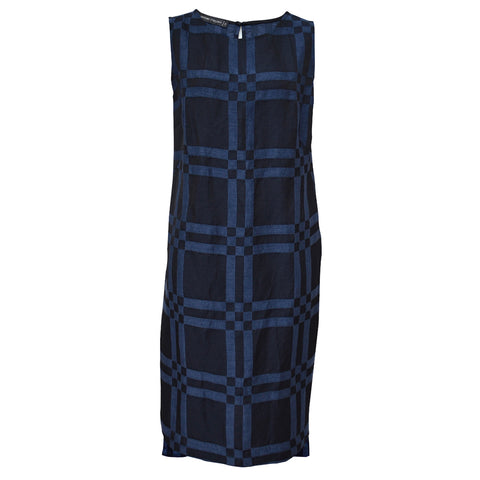 Tiffany Treloar Italian Linen Viscose Dress Indigo Front