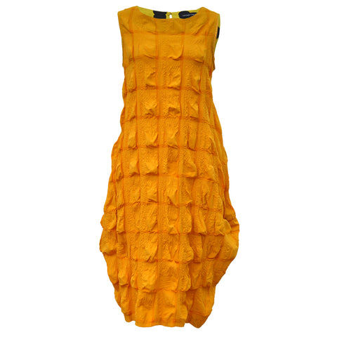 Tiffany Treloar Cotton Seersucker Dress Yellow Front