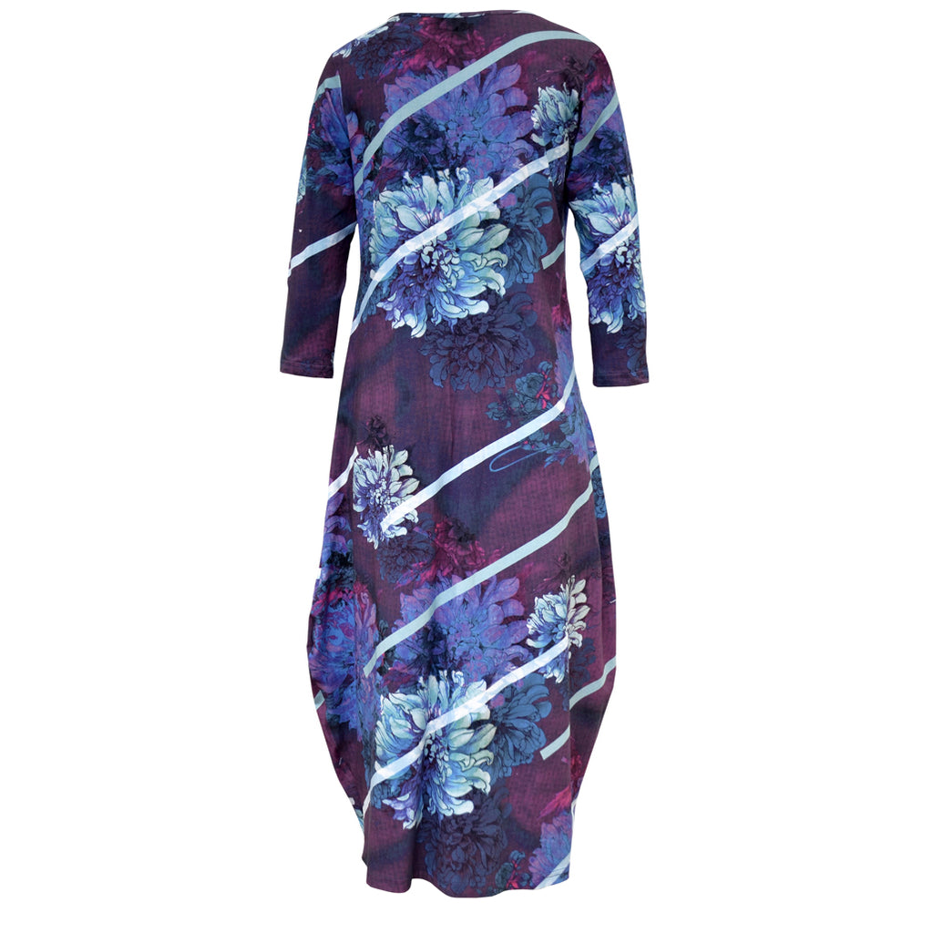 Tiffany Treloar Tayla Cotton Print Dress Dahlia Back