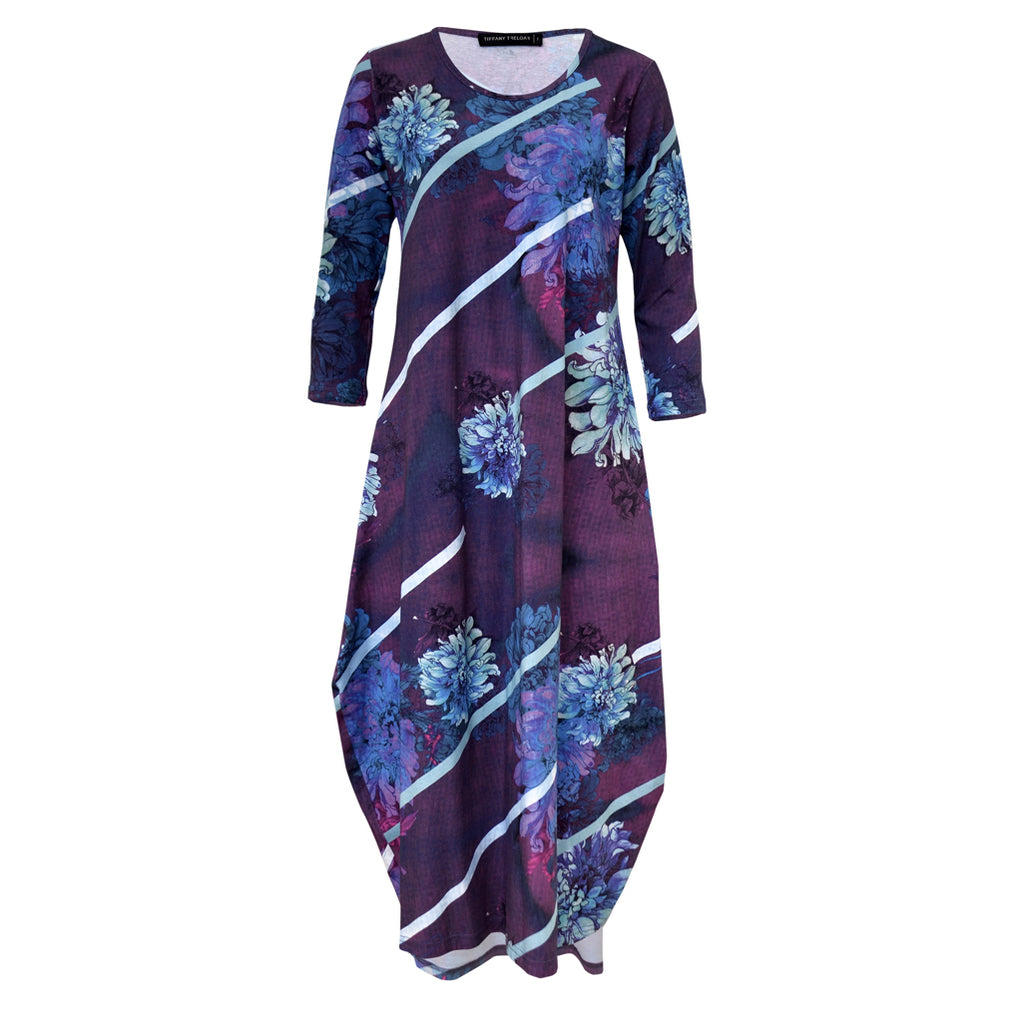 Tiffany Treloar Tayla Cotton Print Dress Dahlia Front