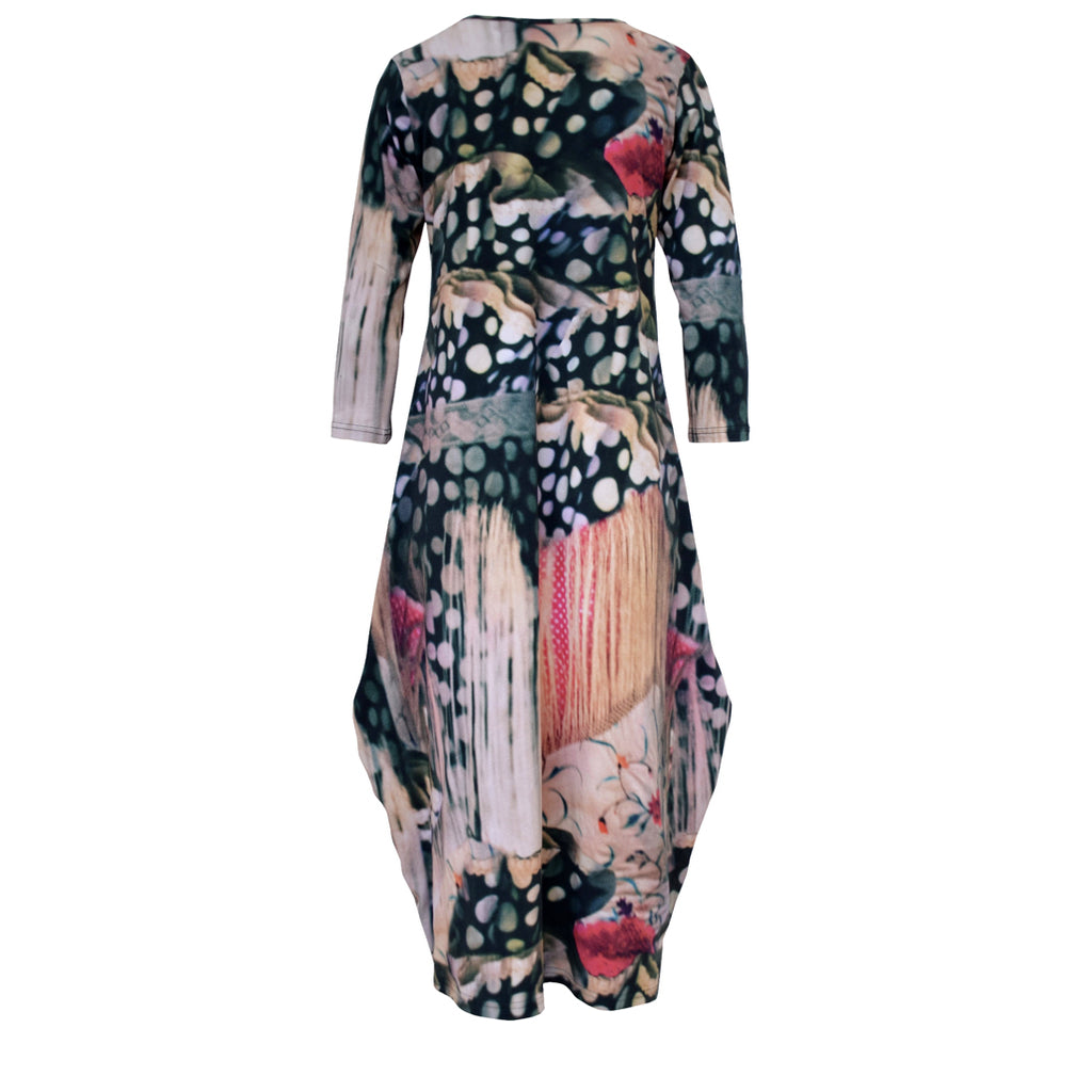 Tiffany Treloar Tayla Cotton Print Dress Flamenco Back