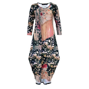 Tiffany Treloar Tayla Cotton Print Dress Flamenco Front