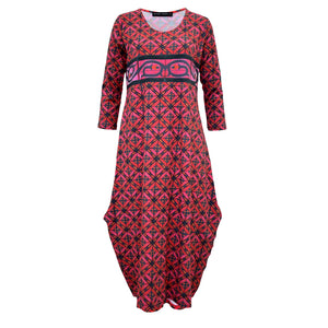 Tiffany Treloar Tayla Cotton Print Dress Perro Front
