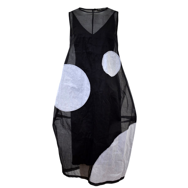 Tiffany Treloar Organdy Dress Black and White Front