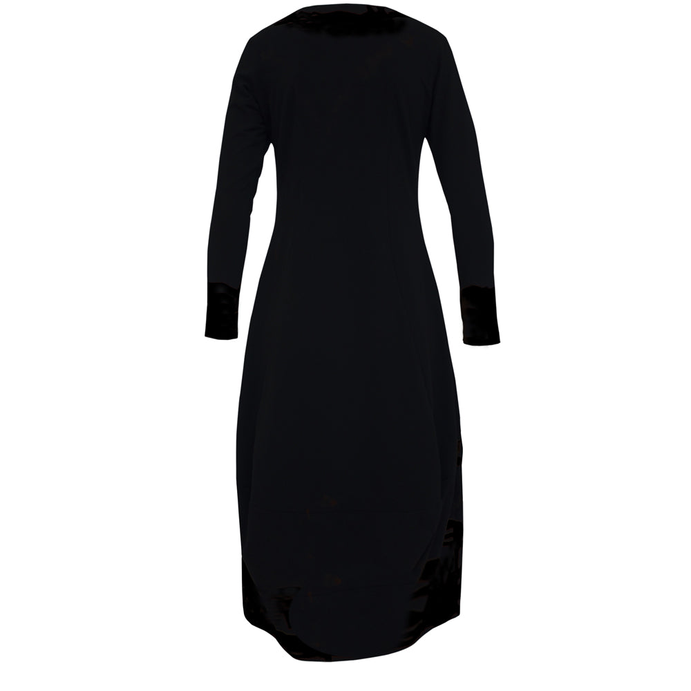 Tiffany Treloar Caroline Dress Black Cotton back