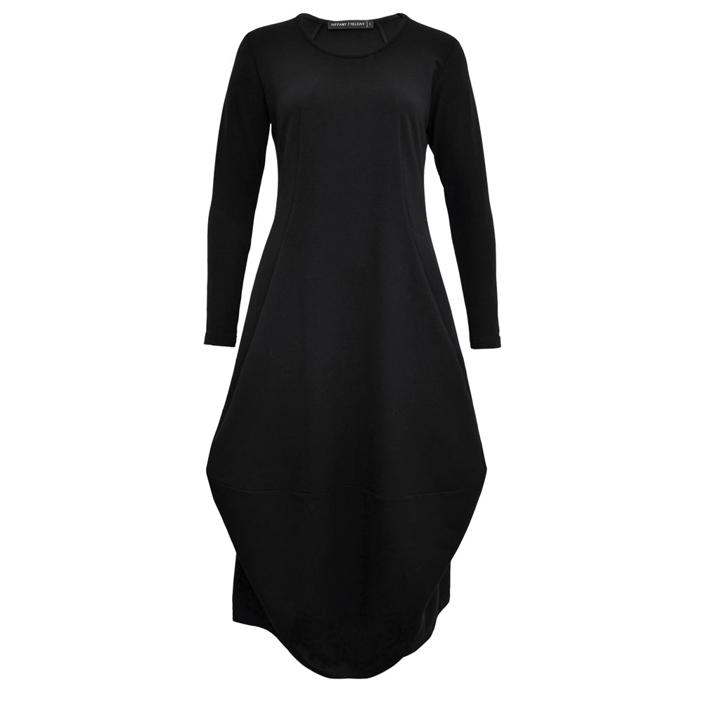 Tiffany Treloar, Caroline Dress Black Cotton - Tiffany Treloar