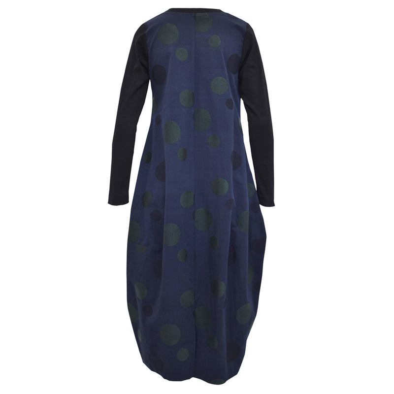 Tiffany Treloar Embroidered Midnight Cotton Linen Dress Back