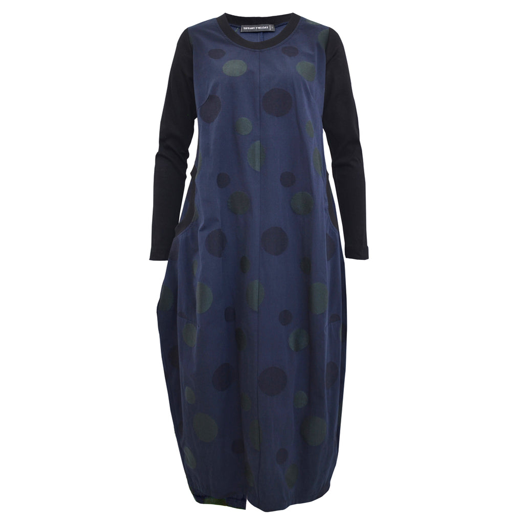 Tiffany Treloar Embroidered Midnight Cotton Linen Dress Front