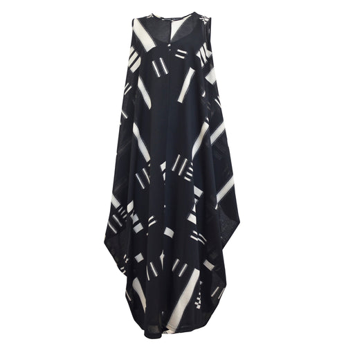 Tiffany Treloar, Woopie Black & Ivory Drape Dress - Tiffany Treloar