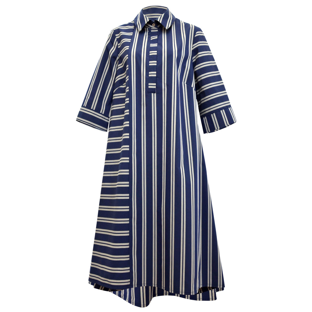 Tiffany Treloar, Summer Blue/silver Shirt Dress - Tiffany Treloar