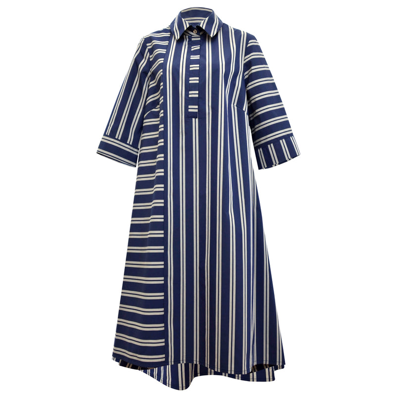 Tiffany Treloar 4305 Summer Blue/Silver Shirt Dress
