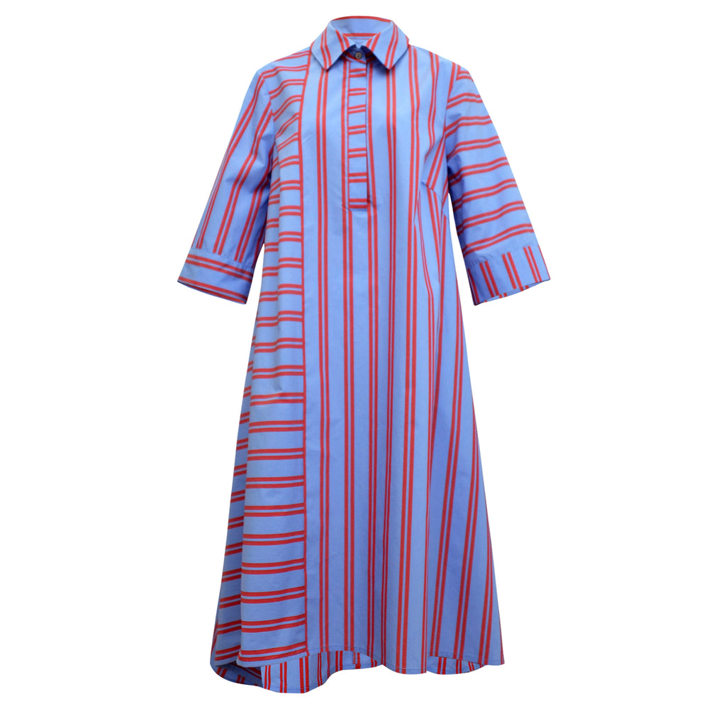 Tiffany Treloar, Summer Fuschia/Blue Shirt Dress - Tiffany Treloar