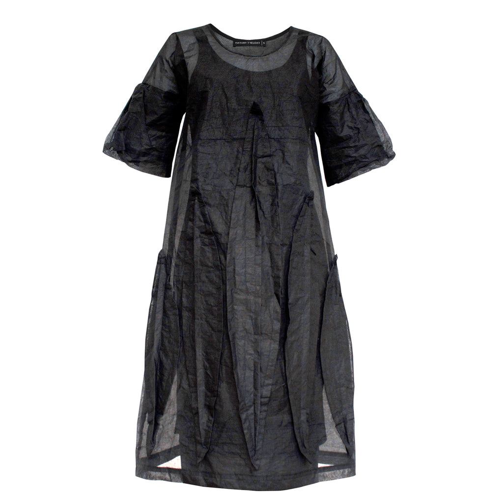 Tiffany Treloar, Ukazi Black Organdy Dress - Tiffany Treloar