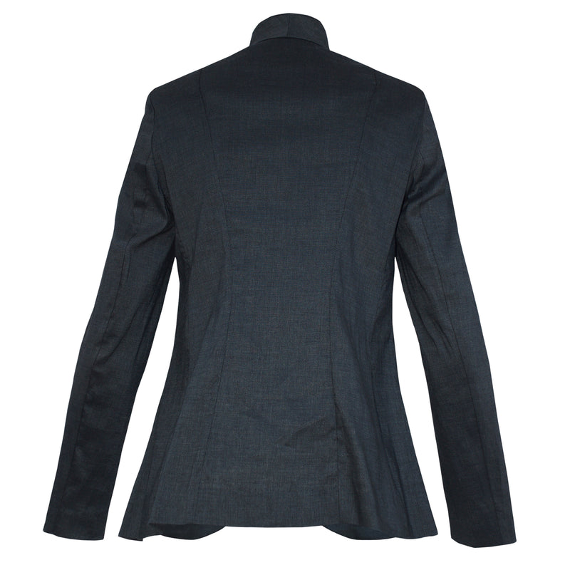Tiffany Treloar Lucette Charcoal Linen Jacket Back