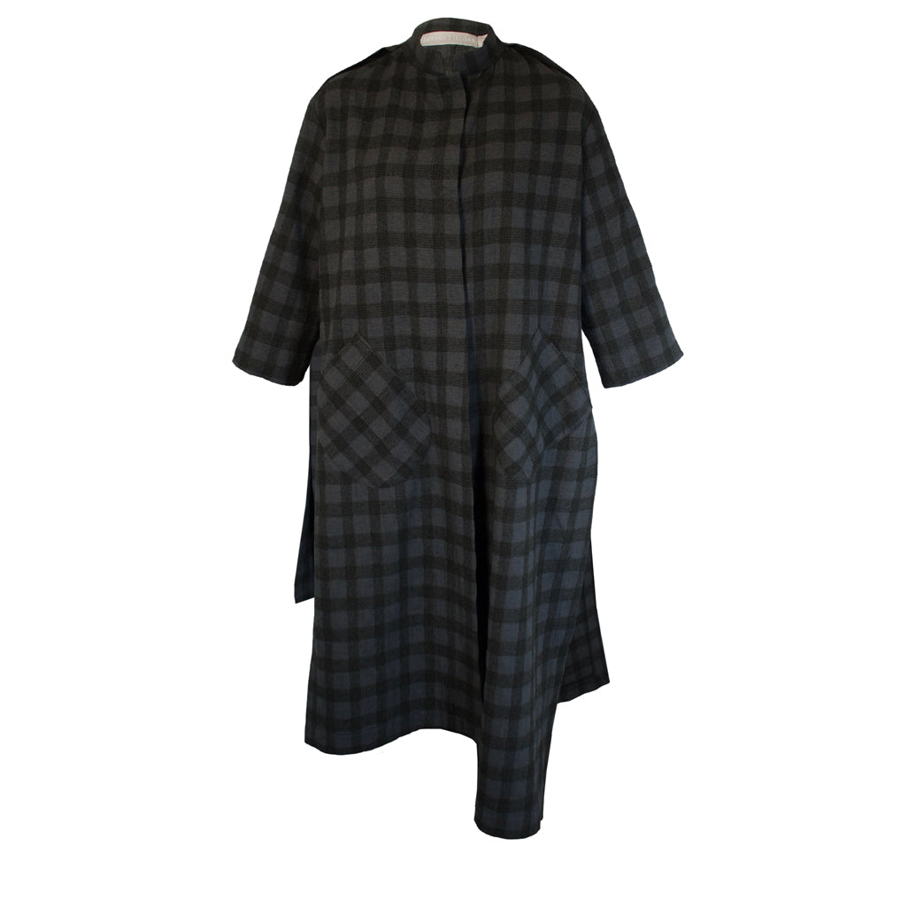 Tiffany Treloar Long Split Coat Westbourne Front