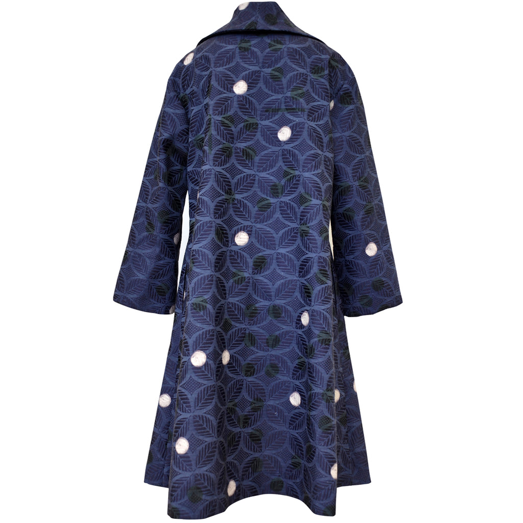 Tiffany Treloar Print Cotton Jacquard Coat Spot Back