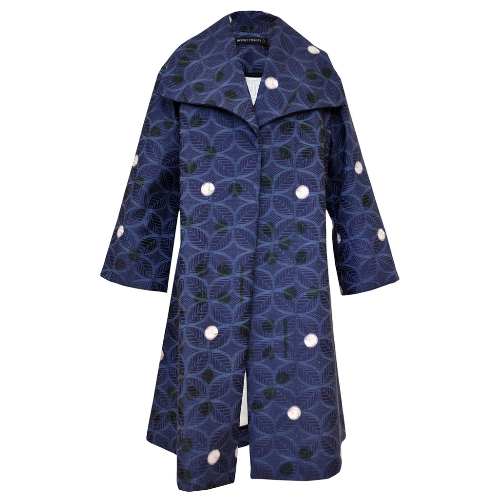 Tiffany Treloar Print Cotton Jacquard Coat Spot Front
