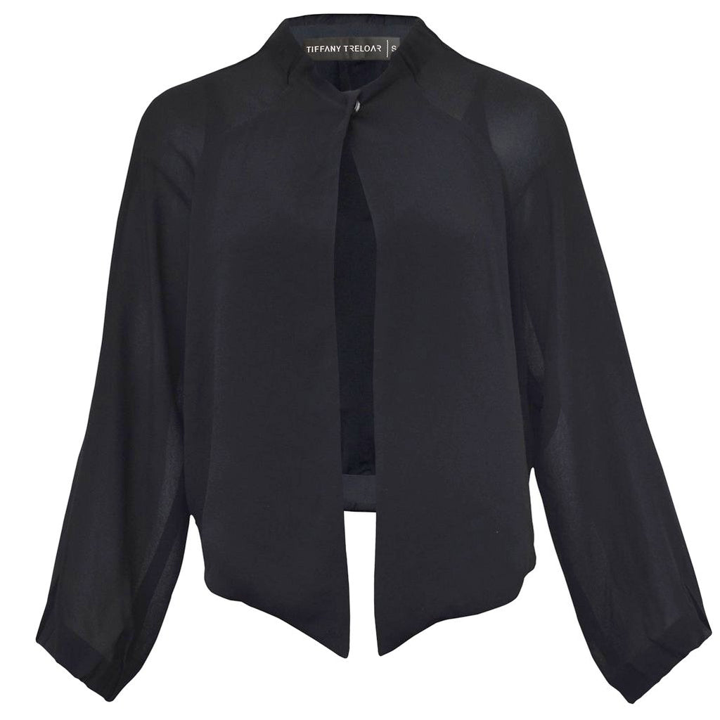 Tiffany Treloar, Viscose Jacket Black - Tiffany Treloar