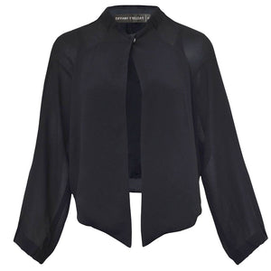 Tiffany Treloar Viscose Jacket Black Front