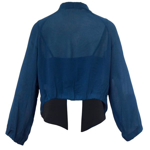 Tiffany Treloar Viscose Jacket Moody Blue Back